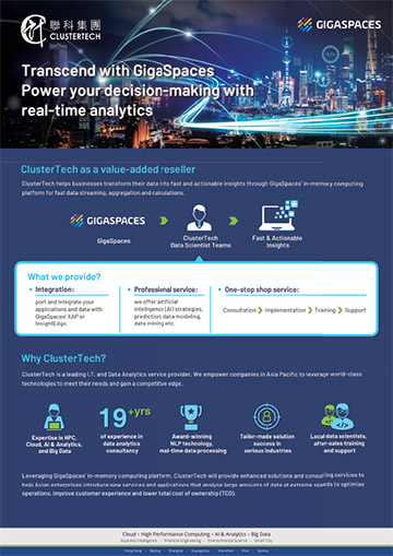 Data Analytics Services for Financial Institutions with GigaSpaces Brochure(英文)