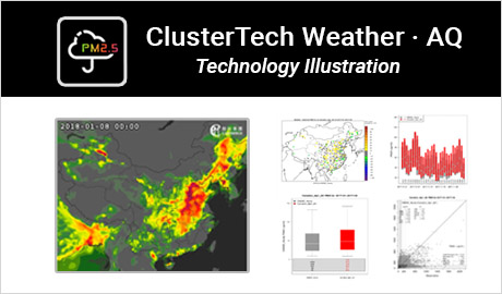 ClusterTech Weather・AQ Technology Illustration
