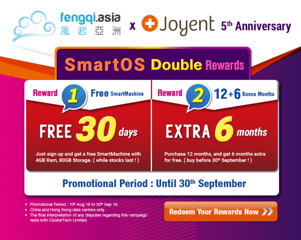 Fengqi Asia x Joyent 5th Anniversary SmartOS Double Rewards - 20160802(1).png