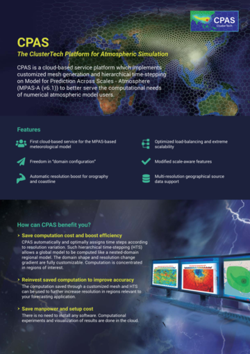 The ClusterTech Platform for Atmospheric Simulation (CPAS)